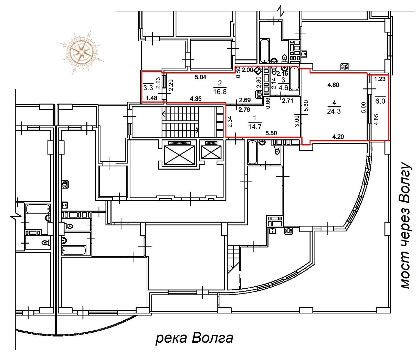 Планировка 1-комнатной квартиры жк столица Новостройки Саратова
