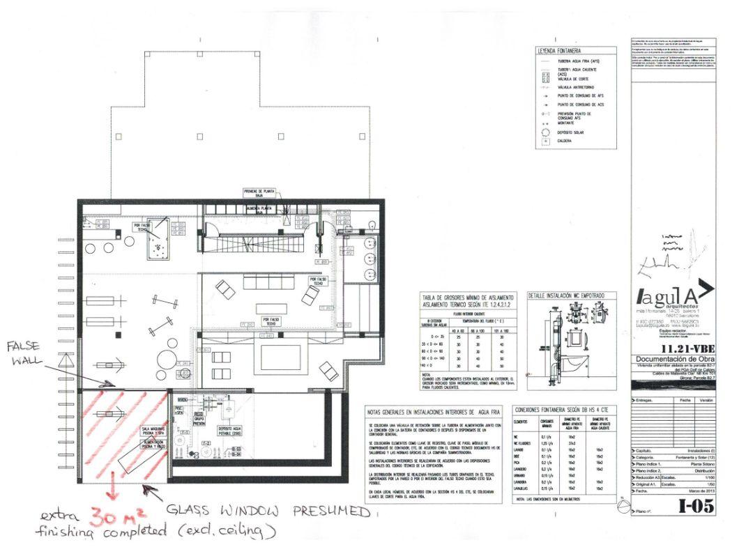 План 1-го уровня Вилла Ла Сельва 7 гольф-клуб PGA Catalunya Resort, Каталония - Продажа - Недвижимость Испании