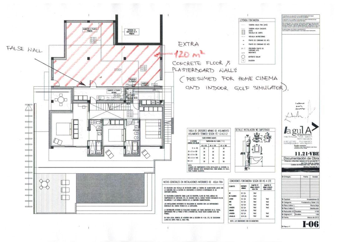План 3-го уровняВилла Ла Сельва 7 гольф-клуб PGA Catalunya Resort, Каталония - Продажа - Недвижимость Испании