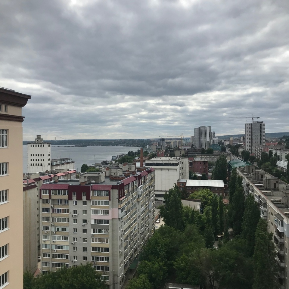 3-ком квартира 105.5 на 14 этаже ЖК Столица вид на Волгу и город
