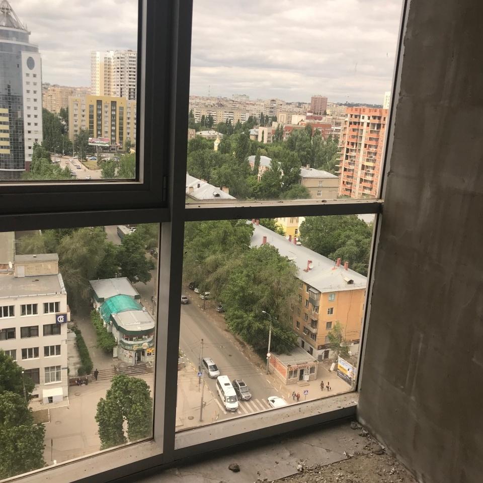 3-ком квартира 105.5 на 14 этаже ЖК Столица вид на город