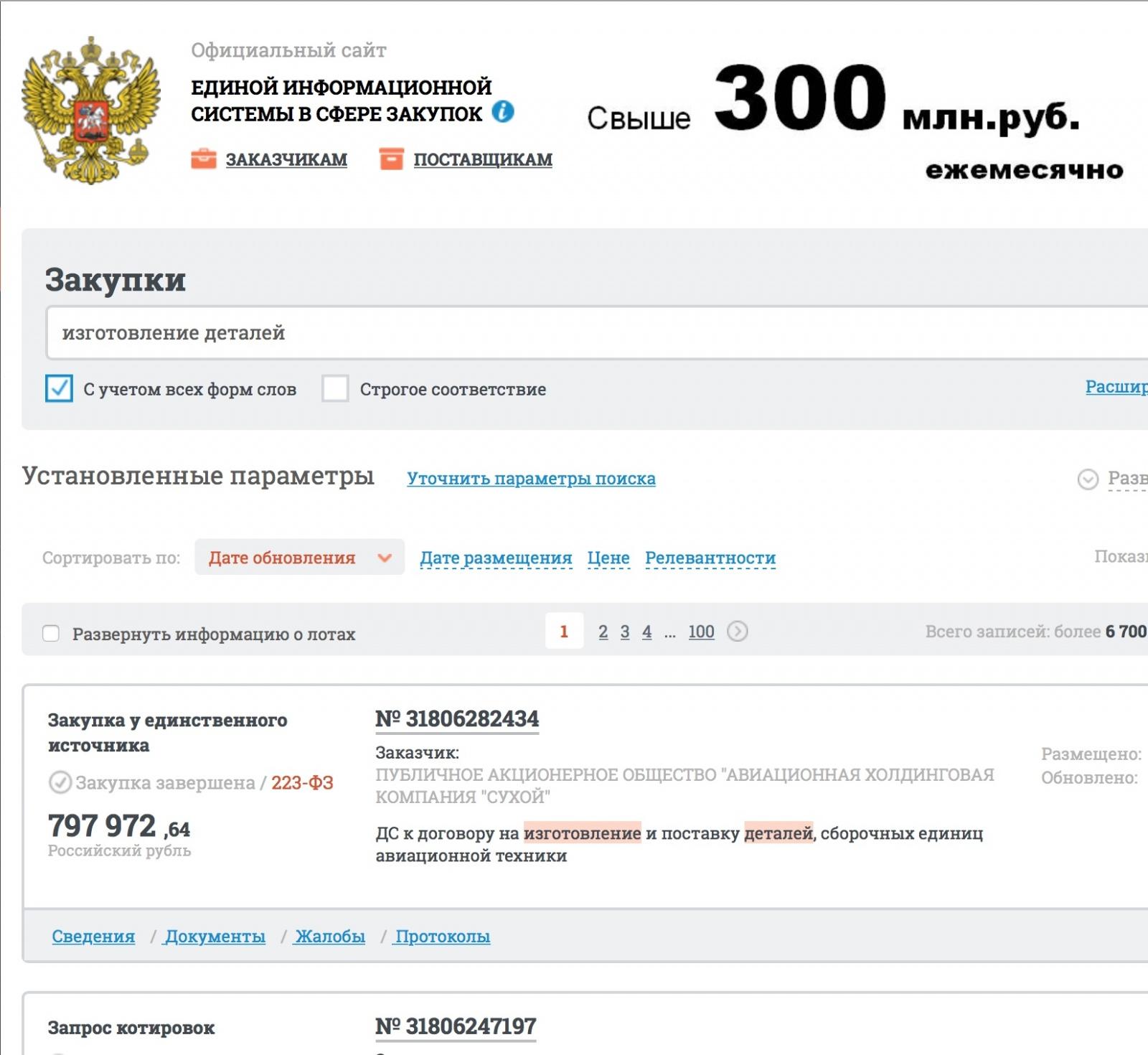 300 млрд. руб. ежегодно