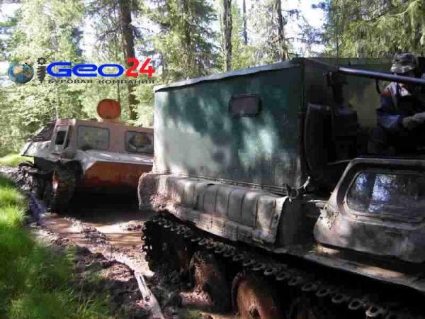 Вездеходы ГТТ в лесу