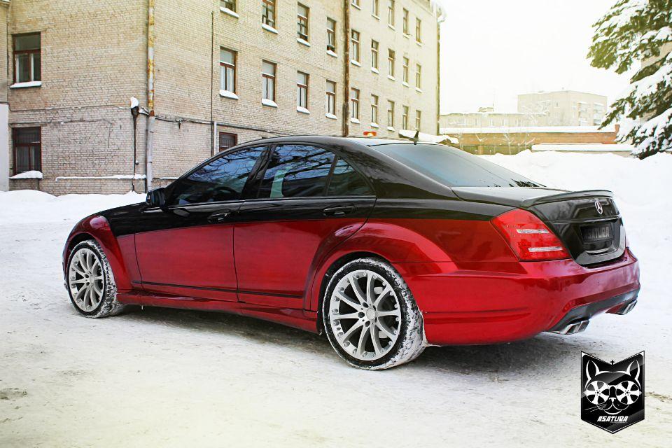Mercedes-Benz - Аквапринт салона автомобиля в карбон, антихром экстерьера