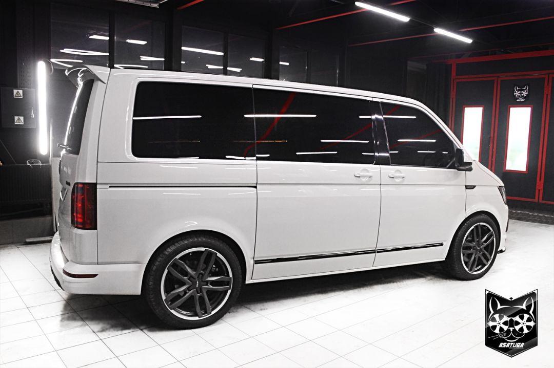 VW Multivan - антихром элементов экстерьера