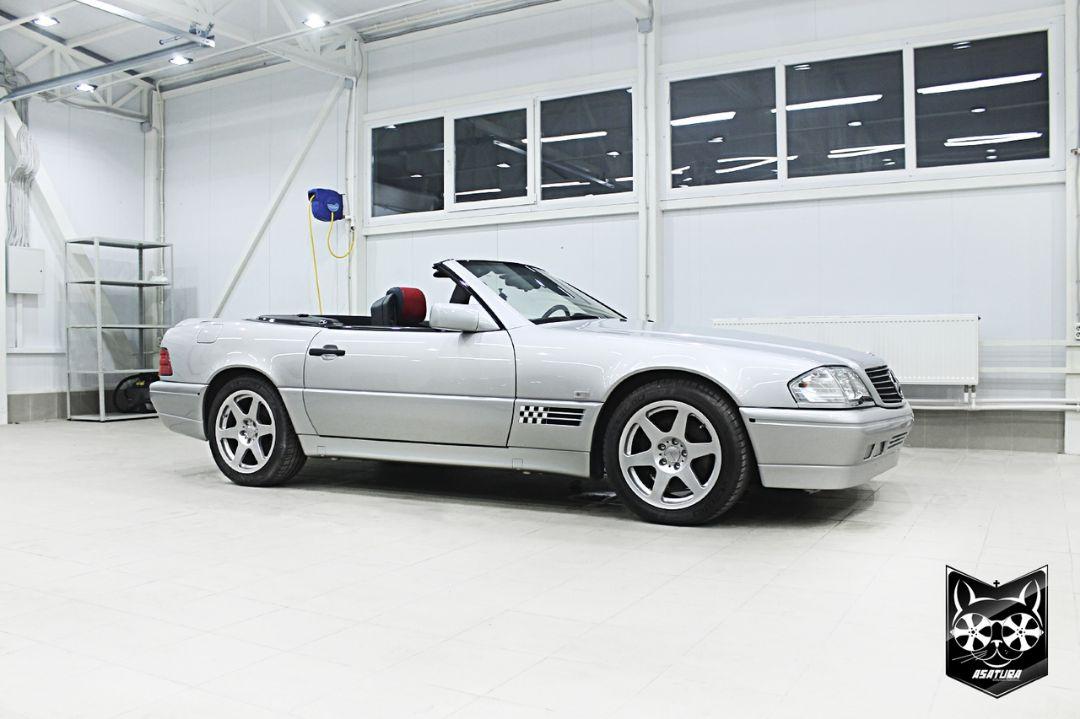 Mercedes-Benz SL - полный окрас кузова, химчистка салона, ремонт кожи.