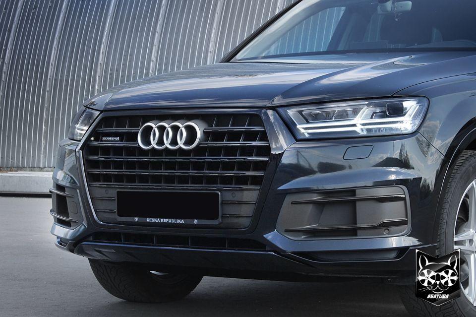 Audi Q7 - Антихром решетки радиатора и экстерьера кузова