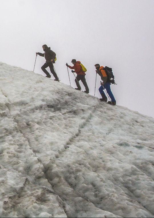 Восхождение на Эльбрус. Ледник.