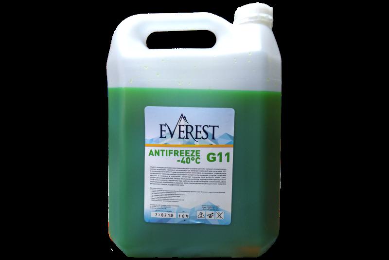 Антифриз EVEREST G11 (зеленый) 10кг.