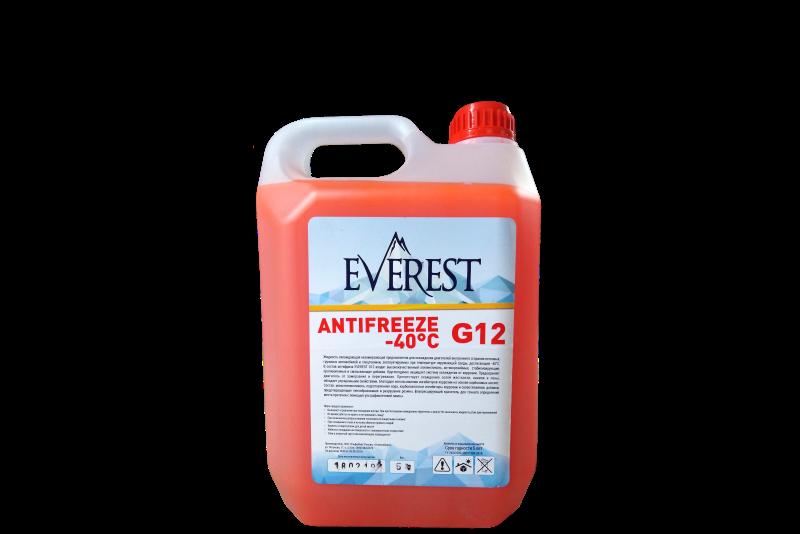 Антифриз EVEREST G12 (красный) 5кг.