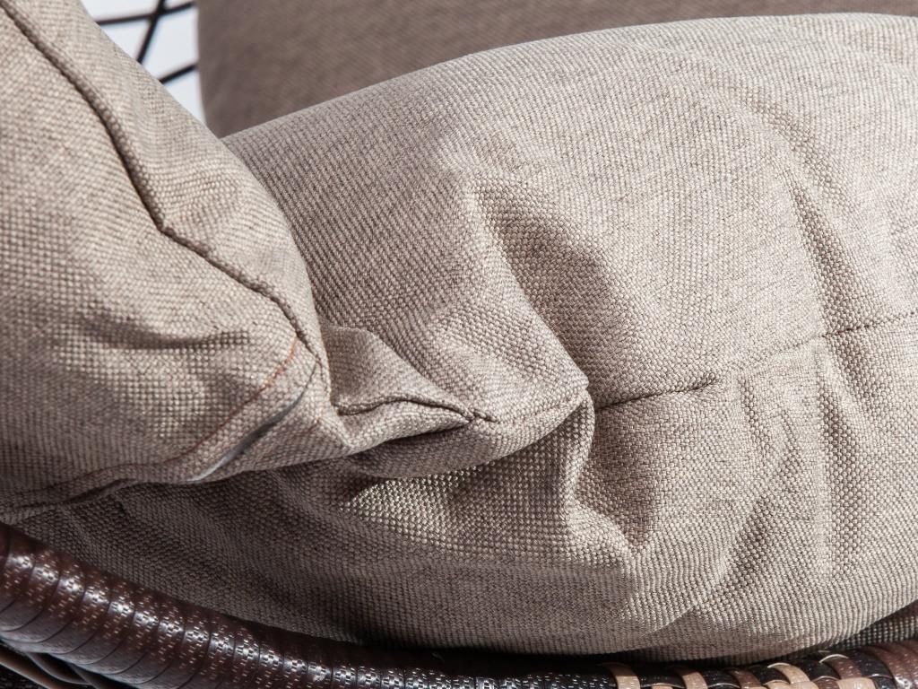 картинка COCOON Браун Подвесное Кресло-качели плетеное из ротанга от магазина InYard