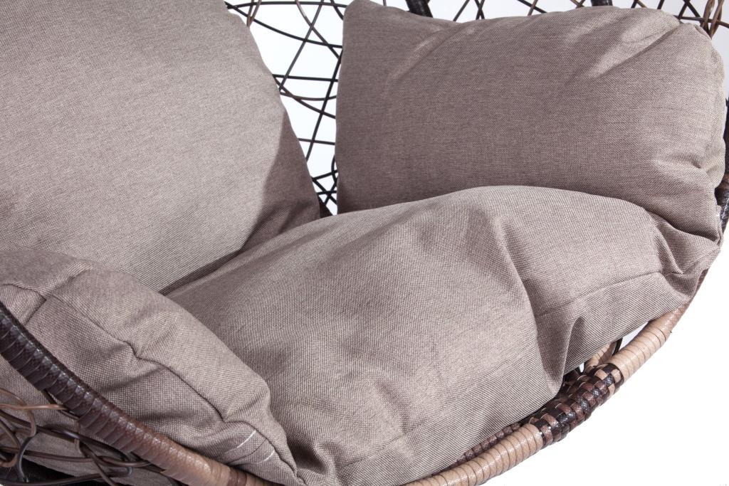 картинка DROP Браун Подвесное Кресло-качели плетеное из ротанга от магазина InYard