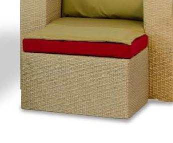картинка Венето Beige Пуф плетеный из ротанга от магазина InYard