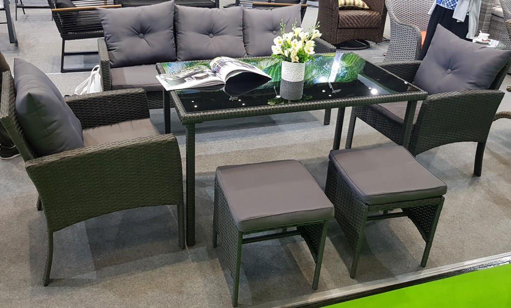картинка Bafyz 7 Brown Комплект мебели обеденный плетеный из ротанга от магазина InYard