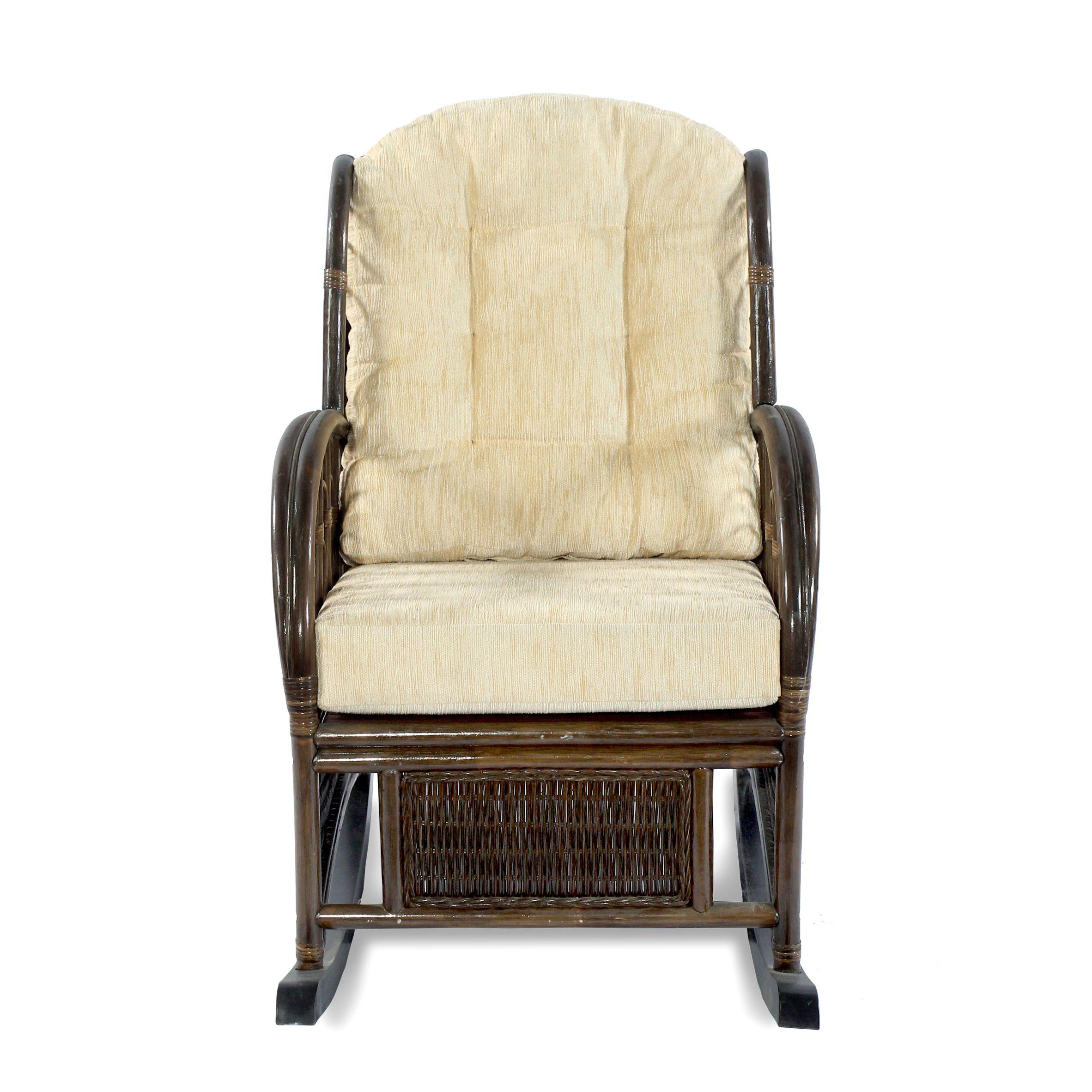 картинка COMODO Браун Кресло-качалка плетеное из ротанга от магазина InYard