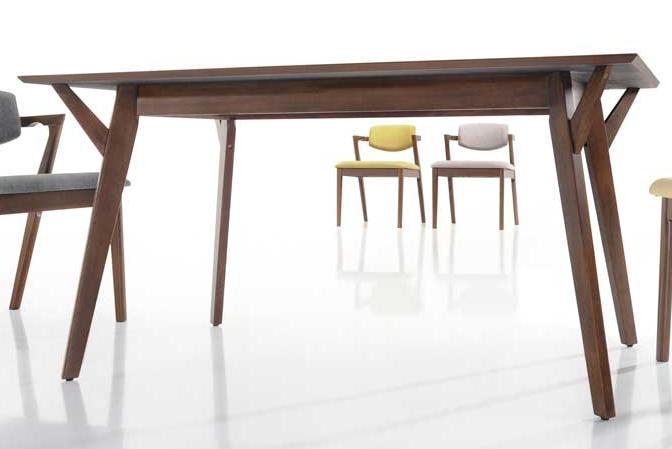 картинка Aganuze 4 Brown Комплект мебели обеденный из дерева Гевея (Малайзия) от магазина InYard