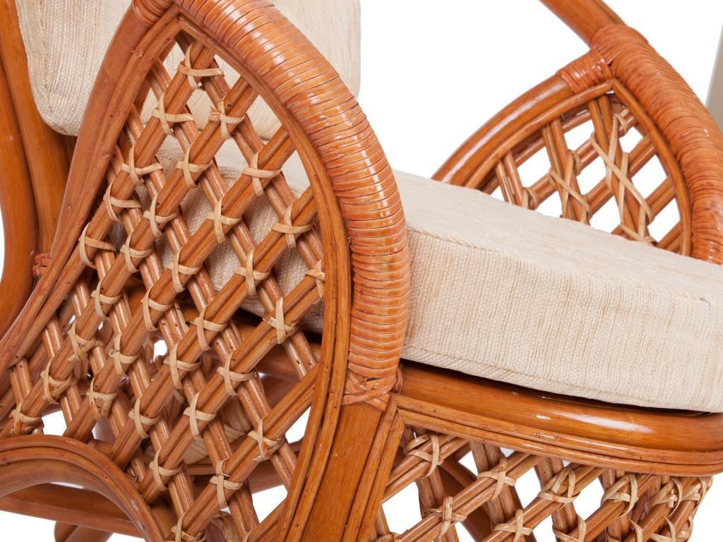картинка MELANG Коньяк Кресло плетеное из ротанга от магазина InYard
