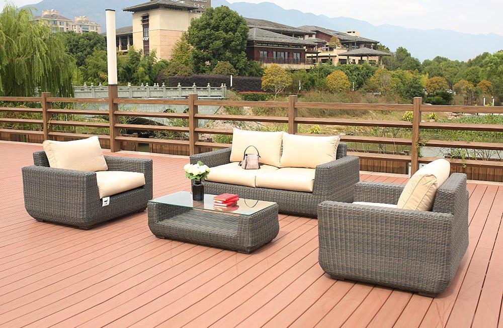 картинка BIZ 4 Gray Комплект мебели для отдыха плетеный из ротанга от магазина InYard