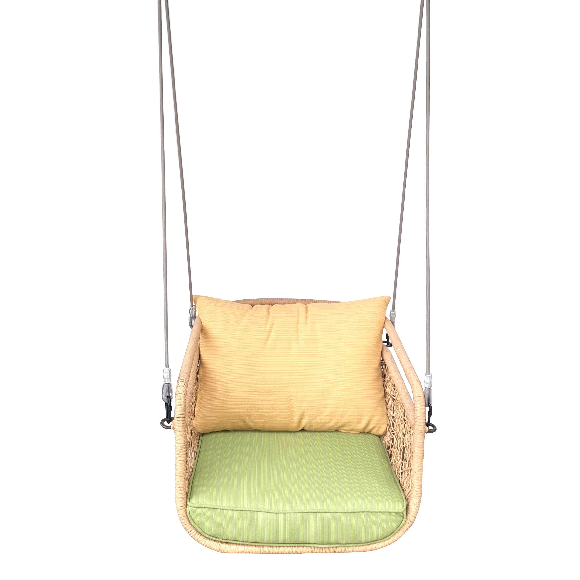 картинка CLASSIC без стойки Мед Подвесное Кресло-качели плетеное из ротанга от магазина InYard