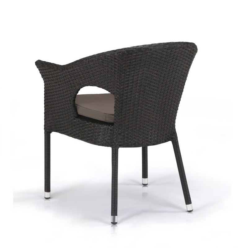 картинка EVOBI Brown Кресло плетеное из ротанга от магазина InYard