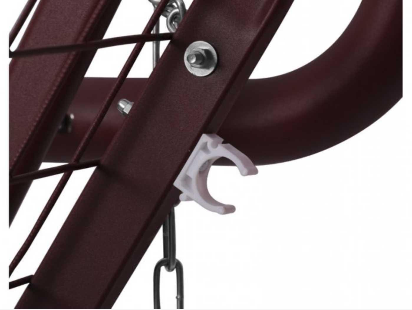 картинка Оазис Премиум Красные Садовые качели из металла от магазина InYard