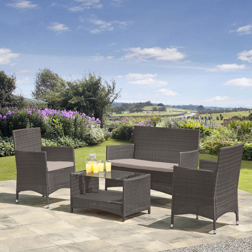 картинка COLOM 4 Gray Комплект мебели для отдыха плетеный из ротанга от магазина InYard
