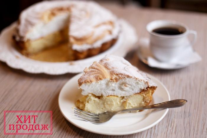 Фирменный яблочно-творожный пирог с безе
