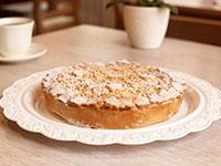 Творожный персиковый пирог