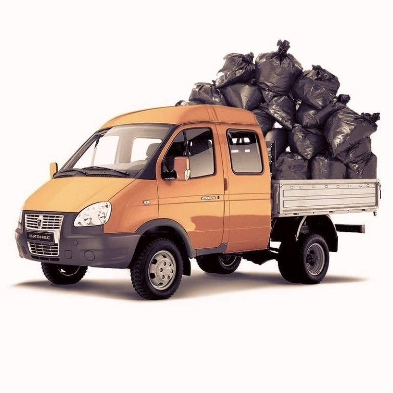 Фото вывоза строительного мусора газелями в Москве и Московской области