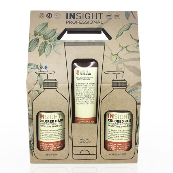 Купить Набор для окрашенных волос Insight Colored Hair (шампунь и кондиционер 400 мл + маска 250 мл) в интернет-магазине профессиональной косметики Klassika.Top