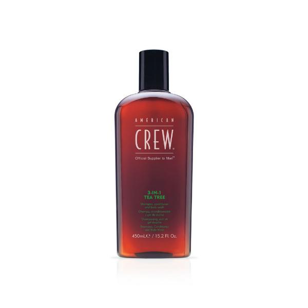 Купить Средство для волос 3 в 1 American Crew Tea Tree 450 мл в интернет-магазине профессиональной косметики Klassika.Top