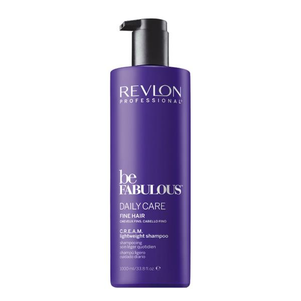 Купить Ежедневный шампунь для тонких и поврежденных волос Revlon Be Fabulous Daily Care Fine Hair Lightweight Shampoo 1000 мл в интернет-магазине профессиональной косметики Klassika.Top