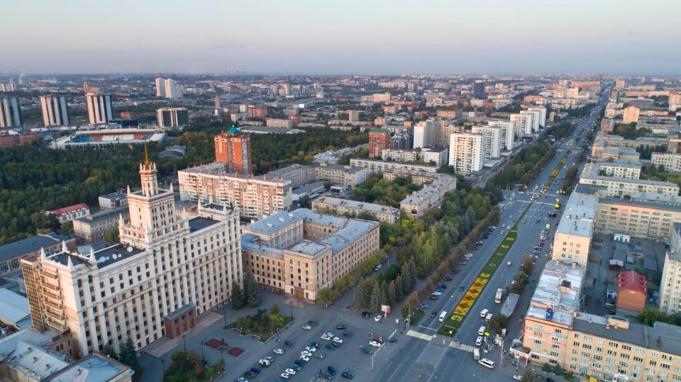 Фото аэросъемки ЮУрГУ Челябинск