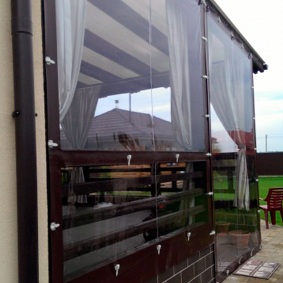 мягкие окна ПВХ для террас