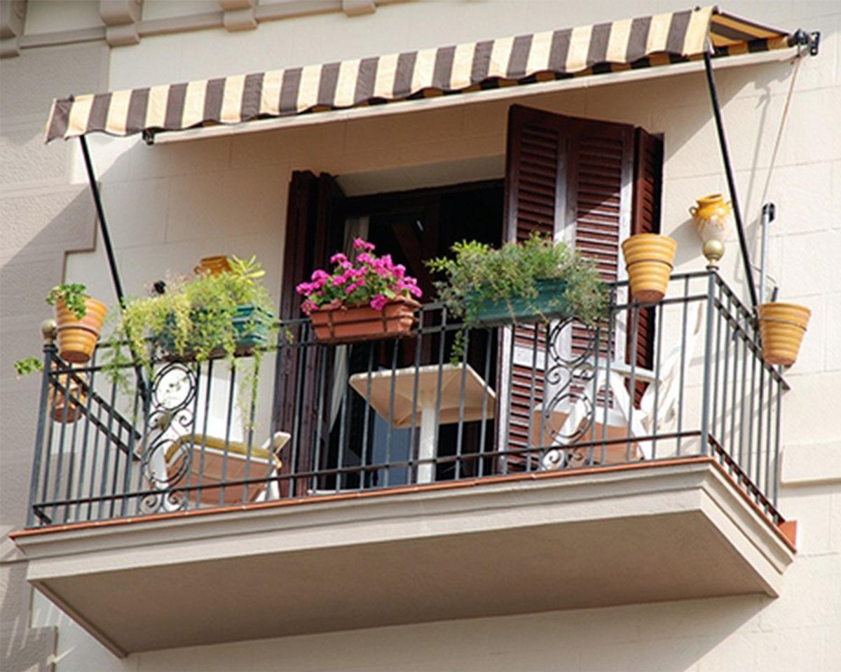 навес для балкона
