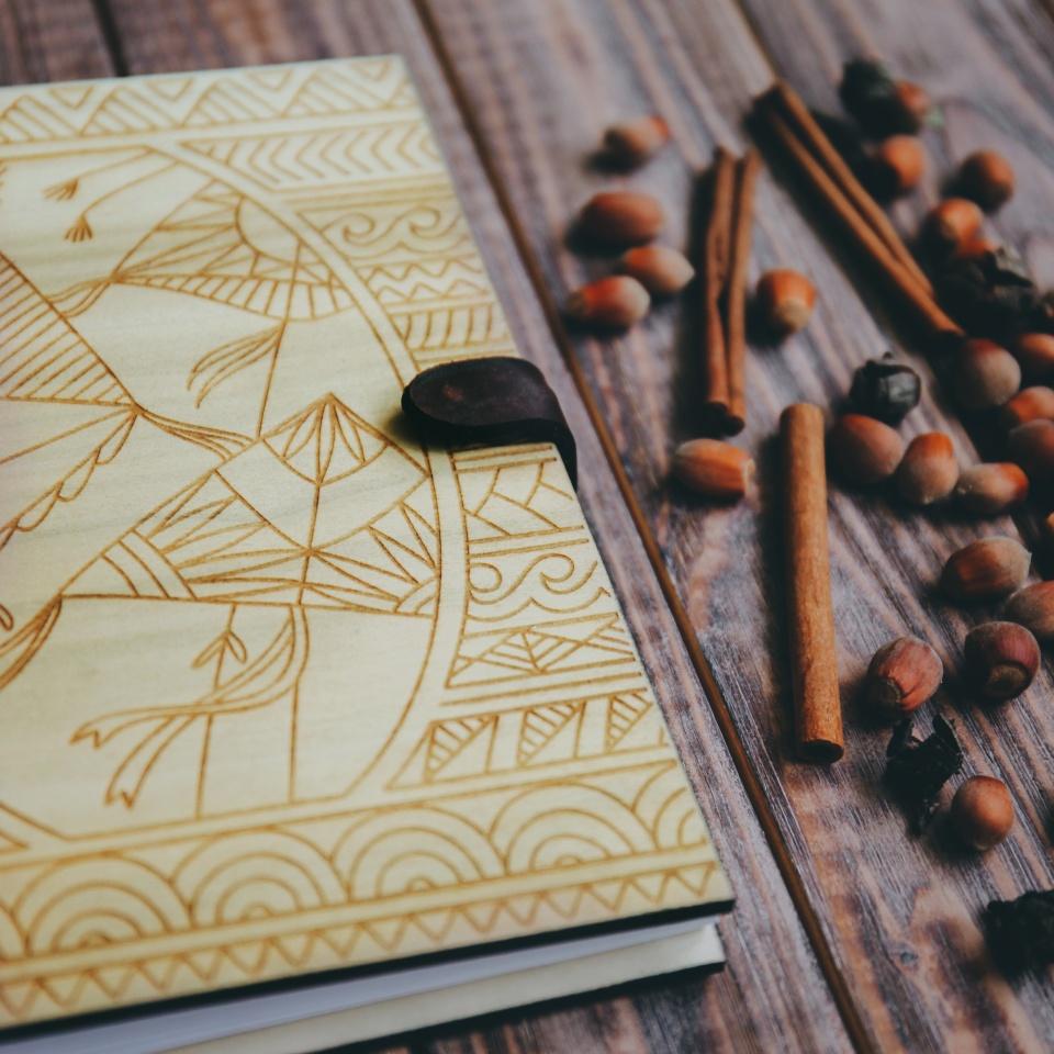 Скетчбук Kites из дерева и кожи заказать