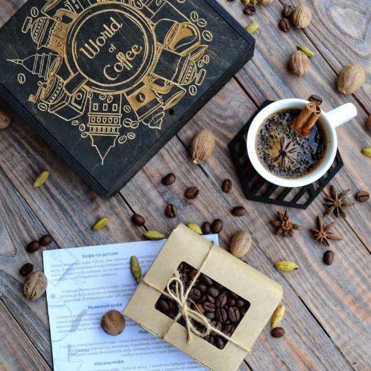 """Корпоративные подарки: кофейный набор """"World of Coffee"""""""