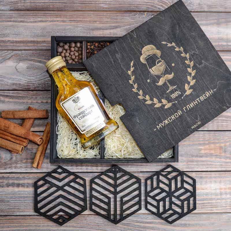 Корпоративные подарки: мужской подарочный набор для глинтвейна