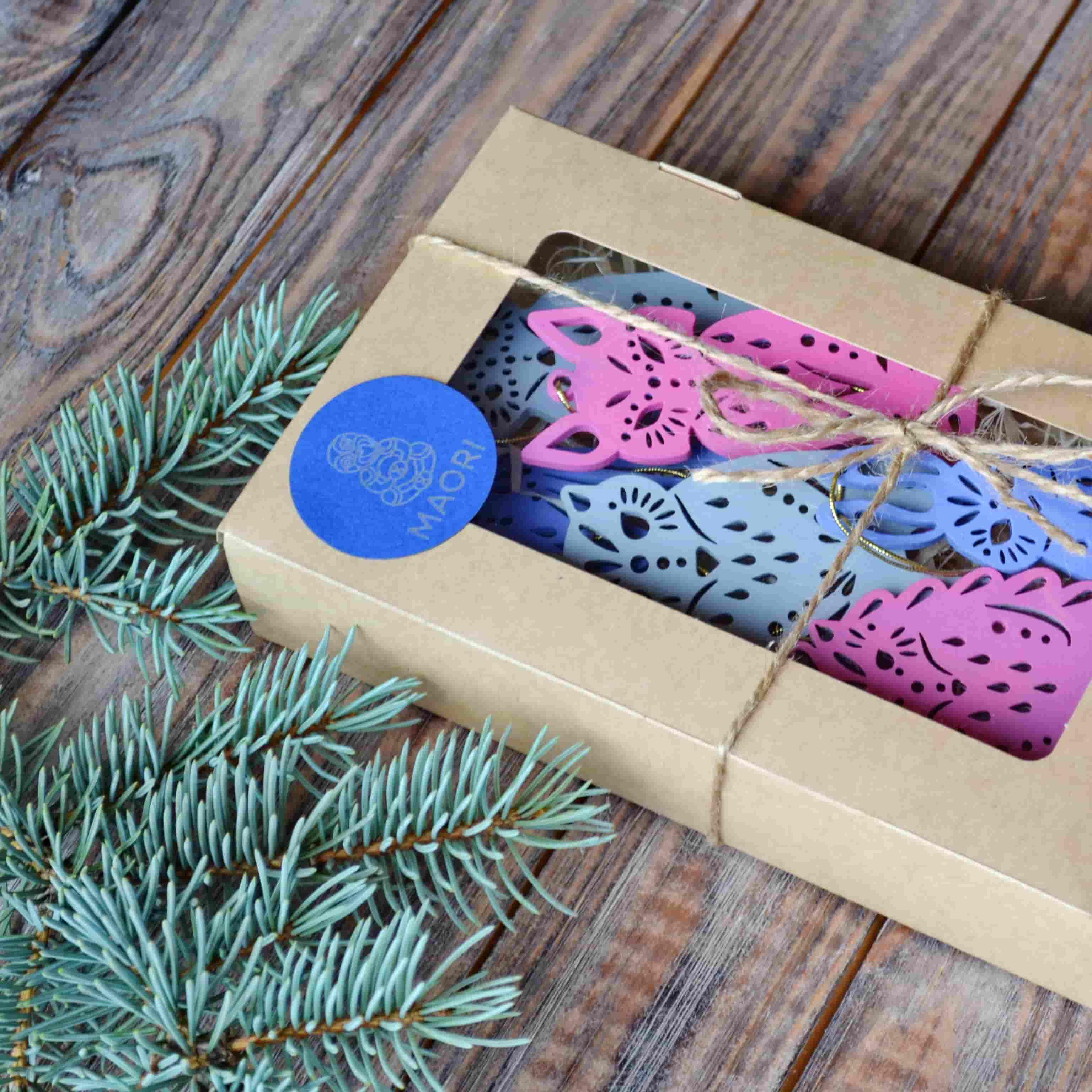 Набор ёлочных игрушек Волшебный лес