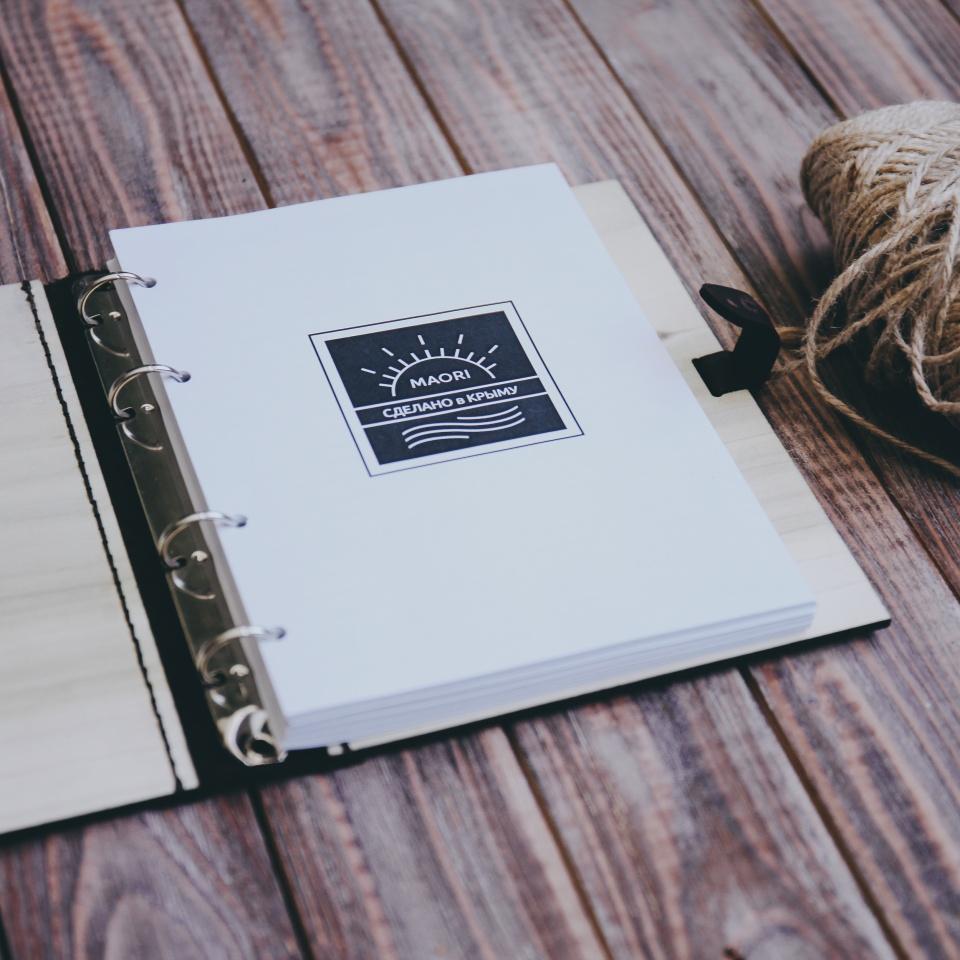 Ежедневник с деревянной обложкой