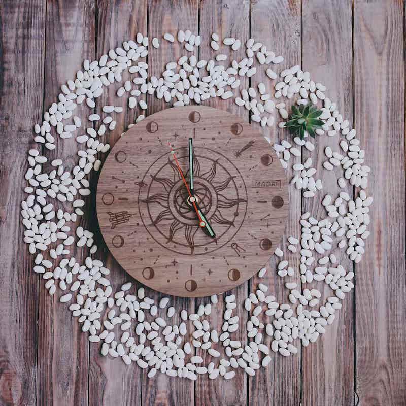 """Настенные часы из дерева """"Galaxy"""""""