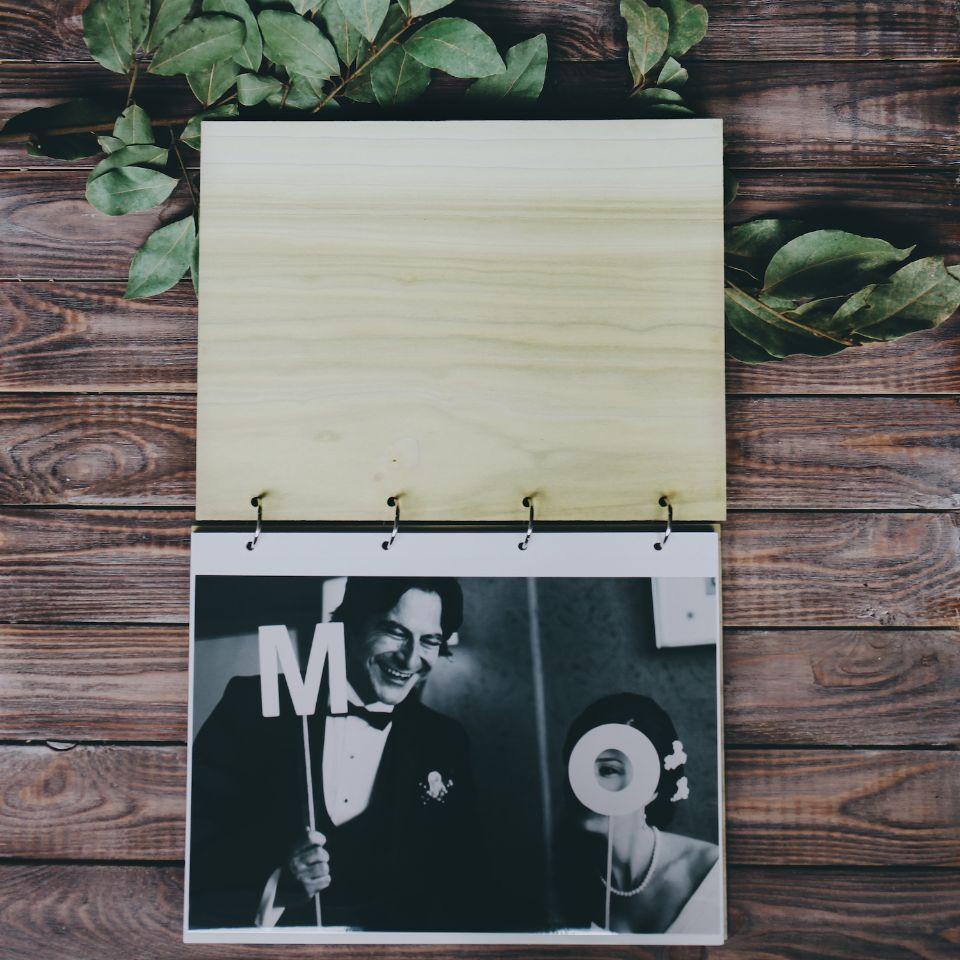 Свадебный фотоальбом на заказ с магнитными листами.