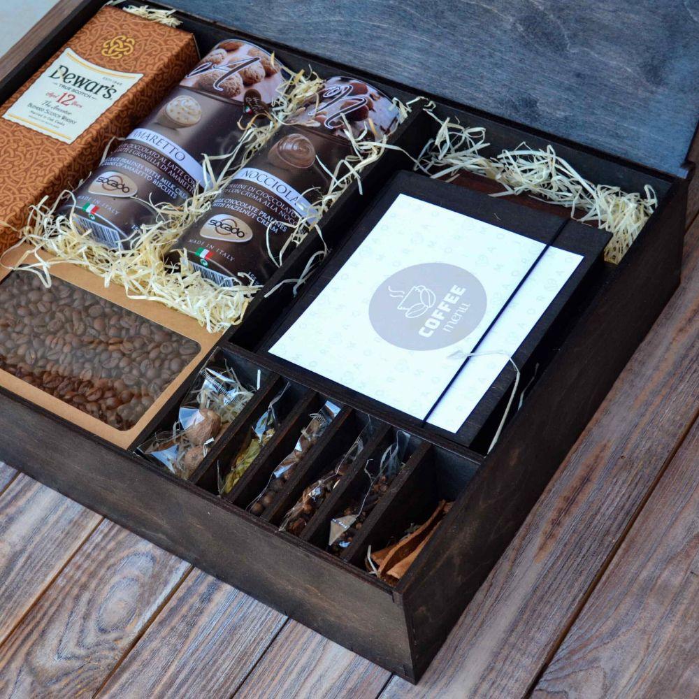 Подарочный набор на День Рождения в деревянной коробке
