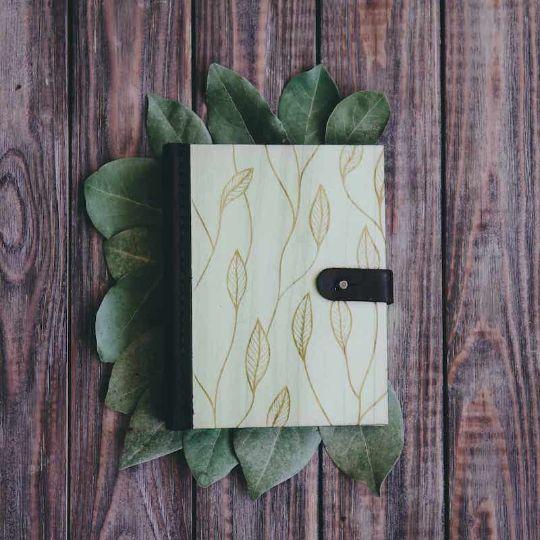 """Блокнот с крафтовыми листами из дерева """"Leaf"""""""