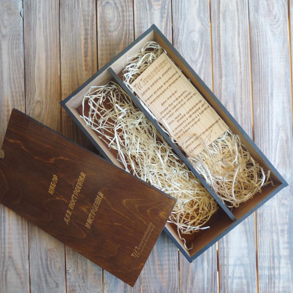 Коробка из дерева для бутылок