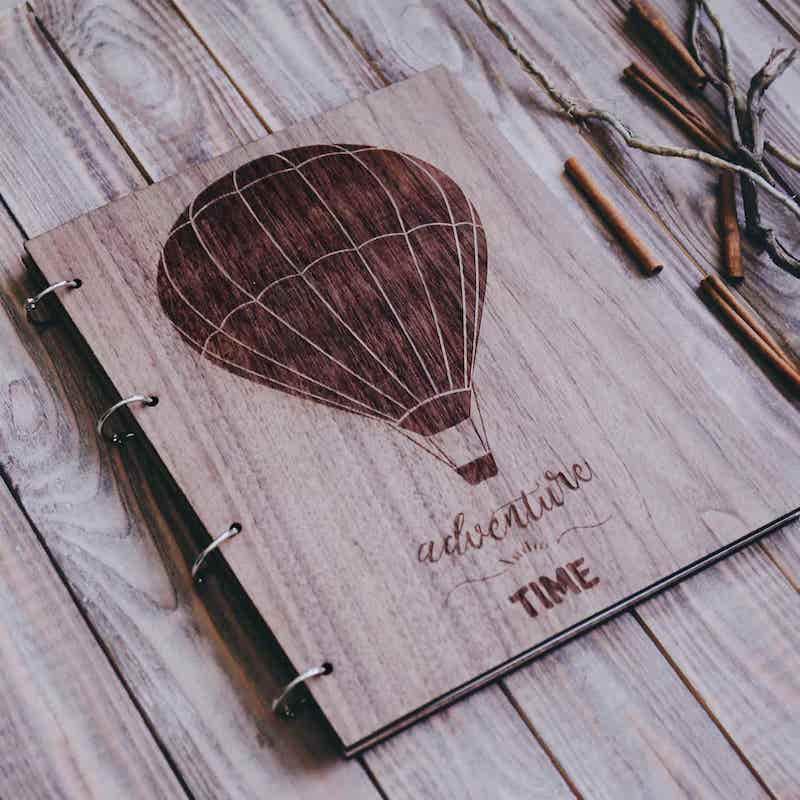 """Фотоальбом из дерева """"Travel"""""""