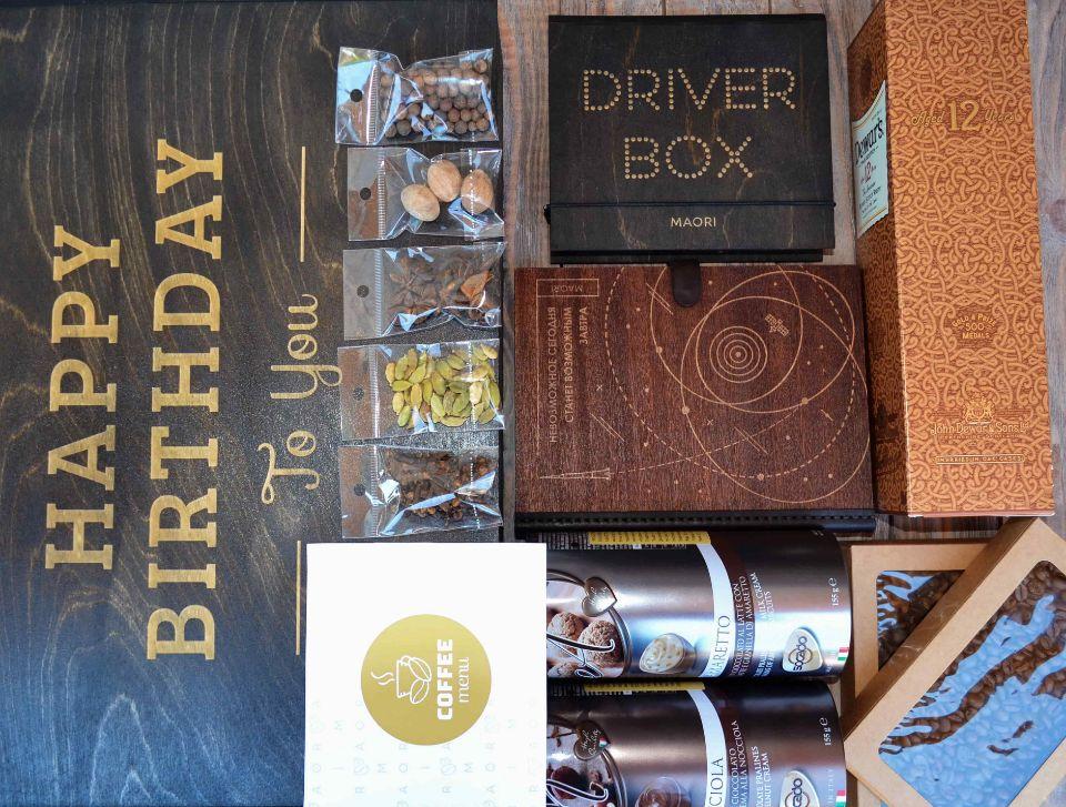 Алкоголь в подарочной коробке