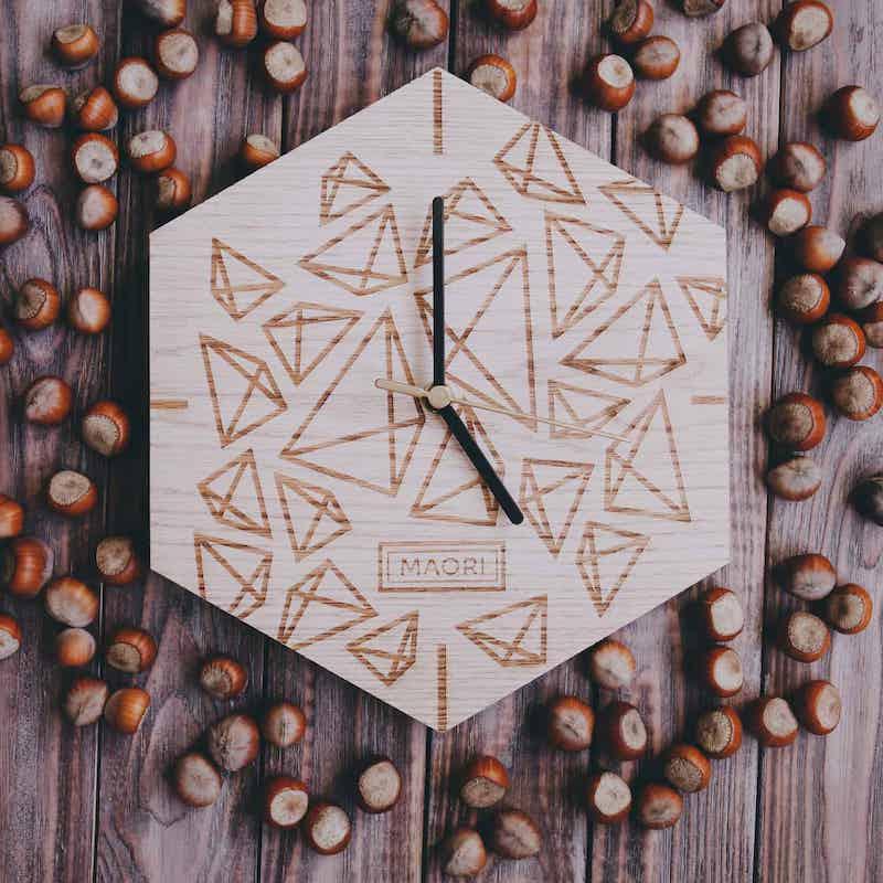 """Настенные часы из дерева """"Ice"""""""