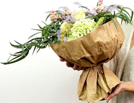 Упаковка букета Flowerschool.online