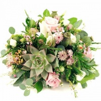 Arrangement with floral foam and succulent